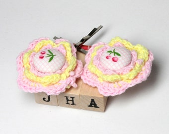 Crochet hair bobby pins