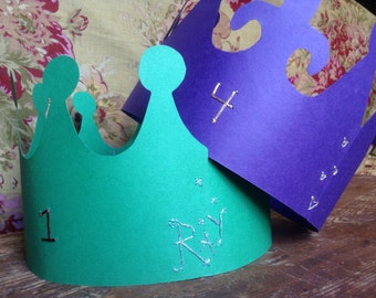 Paper Crown, Birthday Crown, Christmas Crown, Child's Crown, King Crown, Queen for the Day Crown, Princess Crown