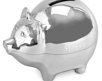Piggy Bank - Personalized Piggy Bank - Ring Bearer Gift - Little Boys Gift - Coin Bank - Keepsake Gift - Gift Bank - Engraved Piggy Bank