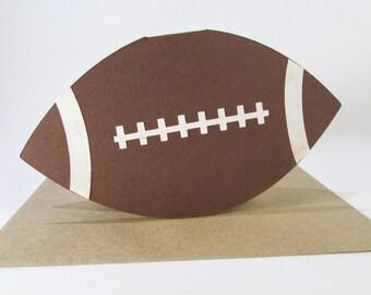 Football Coach Thank You Gift Card / Football Party Invite / Football Birthday Card / Gift Card Holder Card