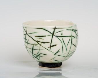 BAMBUTA - Porcelain bowl, unique, handmade, OOAK
