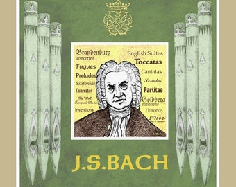 Bach greeting card - pack of 5
