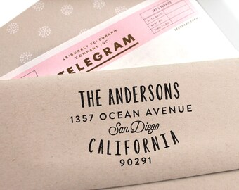 Custom Return Address Stamp with Fancy Font, Wedding Stamp, Housewarming Gift, Self Ink Address Stamp, Wedding Invitation, Save the Date