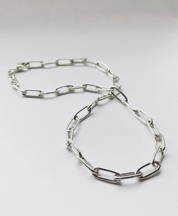 Handmade Silver Choker Chain