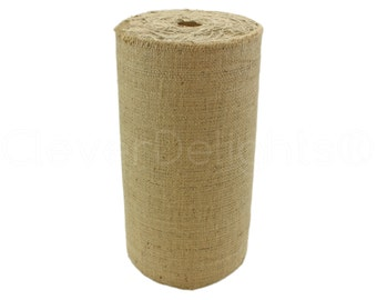 "50 Yards - 14"" Natural Burlap Roll - Industrial Grade - Unfinished Edges - Eco-Friendly Natural Jute Burlap Fabric - Tight Weave - 14 Inch"