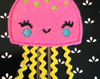 Pink Jellyfish Planner Clip/Bookmark
