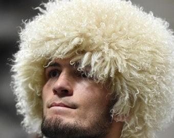 Khabib Nurmagomedov Papakha Russian Caucasian Sheepskin Hat #khabibtime