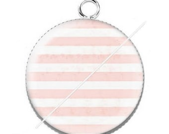 Pendant cabochon resin passionate Miss 17