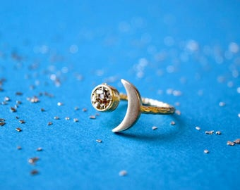 Moon and Stardust Ring