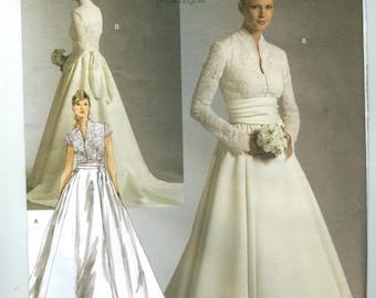 V2979 Vogue - Bridal Original - Misses Lined Dress & Sash -  NEW Sewing pattern  Sz. A 6-8-10