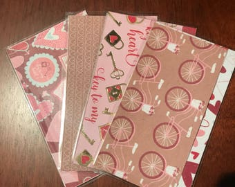 Cash Envelopes (4) Valentines Day Themed!