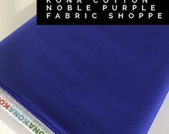 Kona cotton solid quilt fabric, Kona NOBLE PURPLE 1852, Solid fabric Yardage, Kaufman, Quilting Cotton fabric, Choose the cut