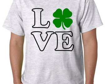 Love the Irish, Irish, Four Leaf Clover, St Patrick's Day shirt, St. Patty's Day, Green Proud
