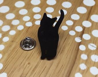 Cat Pin, Cat Tie Tack, Cat Lapel Pin, Cat Brooch, Black Cat Jewelry