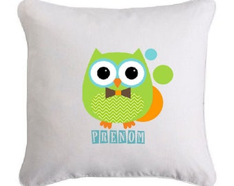 OWL pillow bow tie ' personalized with name
