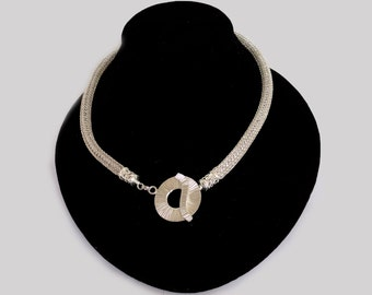 Viking Knit Necklace in Silver