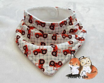 Adjustable Tractor Bandana Bib