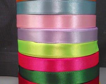 22 12 mm 10 colors satin ribbon.