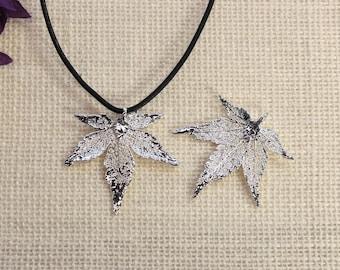 SALE Leaf Necklace, Copper Leaf, Boho Jewelry, Cottonwood Leaf, Real Cottonwood Leaf Necklace, Heart Shaped  Leaf Pendant, SALE376