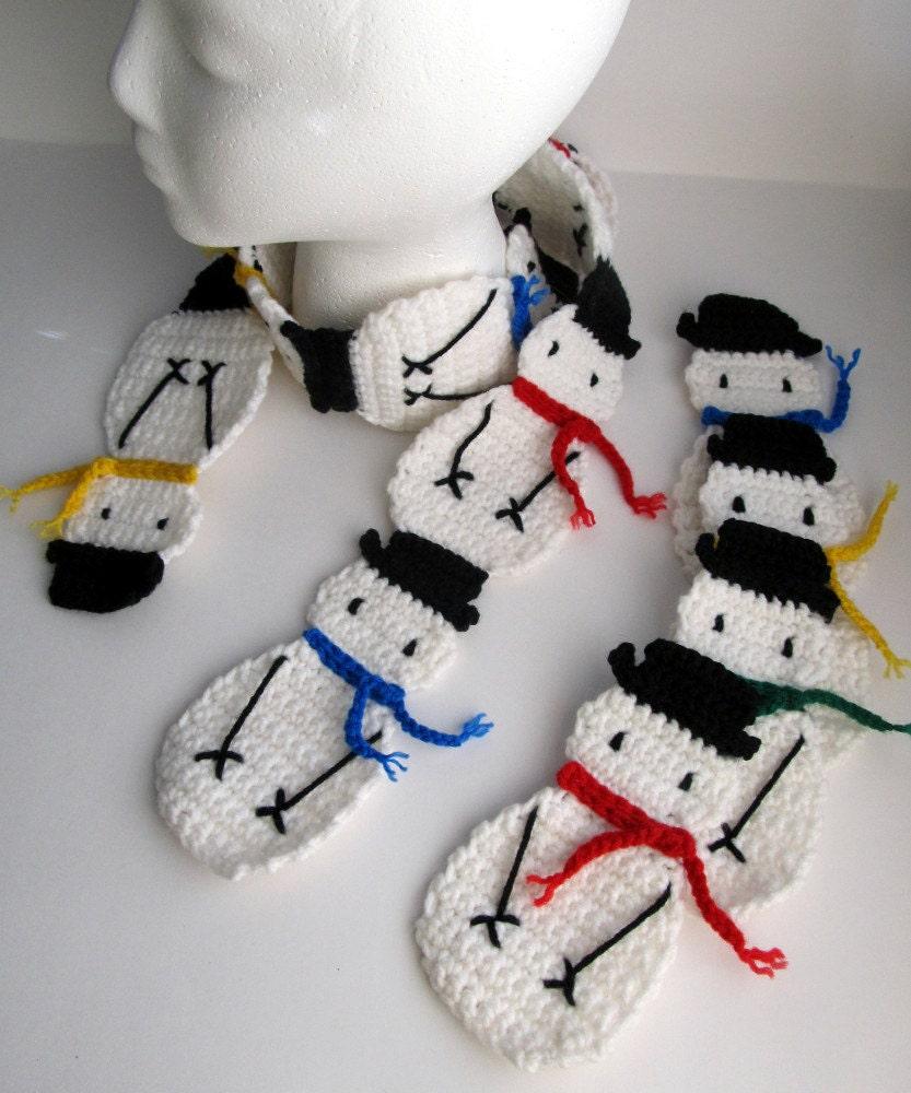Outstanding Crochet Snowman Scarf Pattern Motif - Sewing Pattern for ...