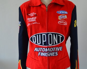 Women's / Ladies Chase Authentic NASCAR Jeff Gordon #24 JH DESIGN DuPont Nascar Twill Racing Jacket adult