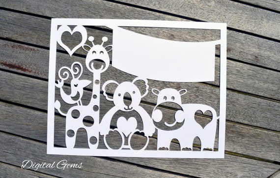 Animal paper cut svg / dxf / eps / files and pdf / png printable ...
