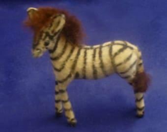 Vintage Wagner Handwork Kunstlerschutz West Germany Flocked Zebra Miniature Figurine, 1966-1983