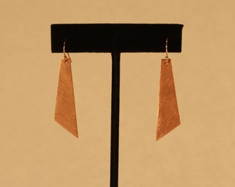 Brushed Rectangular Earrings