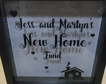 Our new home fund money slot box frame
