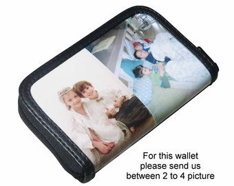 SMALL custom zip wallet for women using pictures from you - FREE SHIPPING - gift gifts mom girlfriend custom family pictures personalized