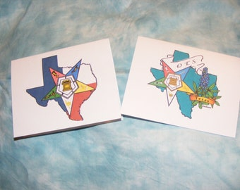 Texas OES State note Cards, 10 Pack