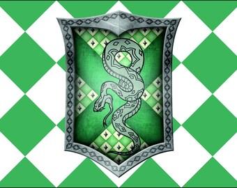 Harry Potter Flag   Slytherin Landscape   3x5 ft / 90x150 cm