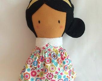 Little Flower Doll * Cloth Doll * Rag Doll * Fabric Doll * Handmade Doll * Cute Doll * Girls Gift * Baby Gift