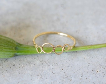 Delicate gold ring, 14k gold simple ring, wedding ring, gold thin ring, stackable rings, minimalist ring, solid gold ring, 14k solid gold