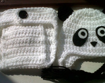Cute panda photo prop 0-3 months. Made to order only
