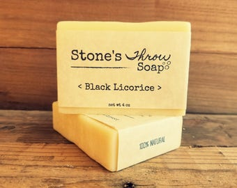 Black Licorice Handmade Bar Soap