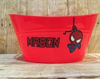 Spiderman Easter Birthday Gift Storage Personalized Basket