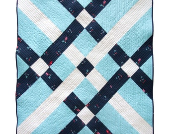 Fishing Net Modern Quilt PDF Download - Easy Sewing Great for Beginners DIY Sewing Quick Baby and Throw Quilts