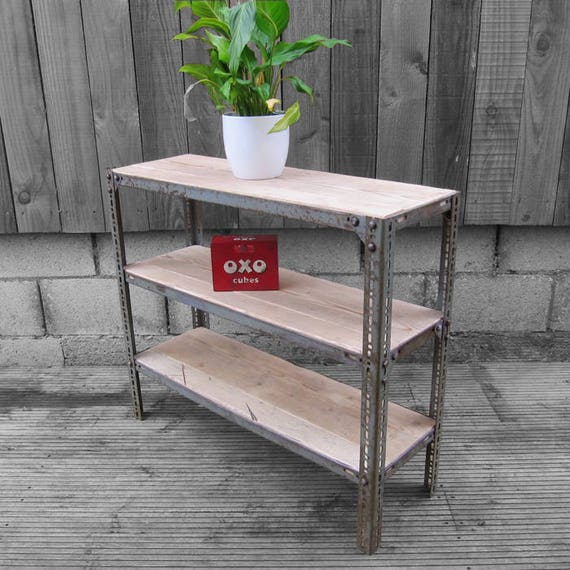Industrial Mid Century Shelving Sideboard vintage UpCycled Scaffold Boards