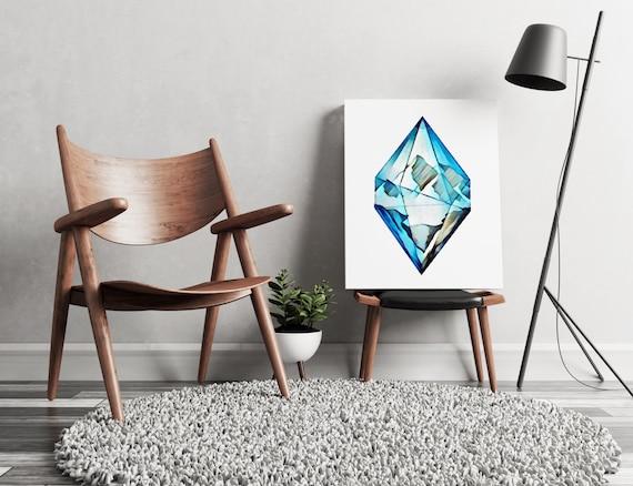Blue diamond mountains | artwork | art prints | canvas art | framed art | art posters | watercolor art | giclee prints  | wall art