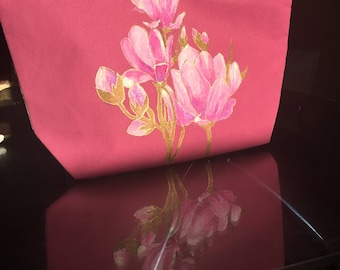 Hand painted Tote bag Canvas for ladies Floral design