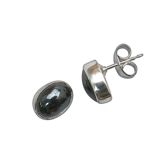 Hematite and Sterling Silver Post Earrings  ehemc2943