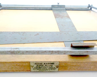 Photography Equipment, Kodak Masking Paper Board, Rare, Eastman Kodak, Photo Masking Board, Darkroom Equipment, 1940s, Industrial Décor