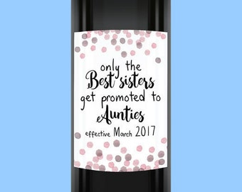 Pregnancy Announcement Wine Label Stickers, Pregnancy Announcement Wine Label  (design #B6) Custom Made / Custom Printed Wine Label