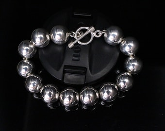 Silver ball link bracelet  sterling jewelry gift for her nice Valentines gift for sweetheart classic matching sets available