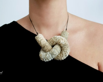 Necklace made of Book paper - paper jewelry