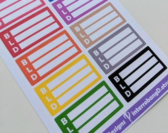 A150 - Meal Planning - Planner Stickers