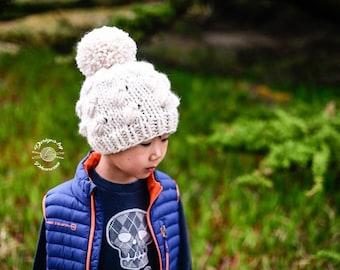 Knit Fishtail Slouch Beanie PATTERN | Knit Pattern | Knitting Pattern | Knit Hat Pattern | Instant Download Pattern