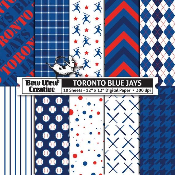 10 Toronto Blue Jays Digital Papers For Scrapbooking Digital Paper