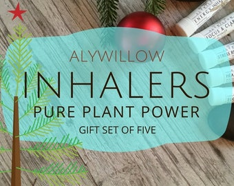 Inhaler Gift Set of 5 || Free of chemicals || EFFECTIVE || made of pure plants - Relief of Headache, Stress, Sinus || More Energy & Focus